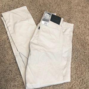 Levi's 513 slim straight fit khaki jeans